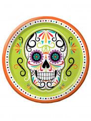 8 piatti Dias de los muertos