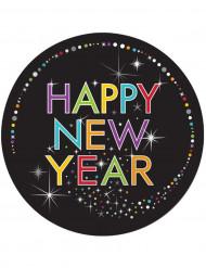 8 Piatti in cartone Happy New Year 2016