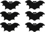 Decorazioni per dolci di Halloween: 6 pipistrelli di zucchero