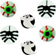 Decorazioni per dolci di Halloween: 6 mini dischi di zucchero