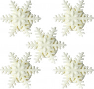 5 mini fiocchi di neve zucchero Natale