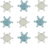 9 mini fiocchi di neve di zucchero Natale