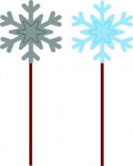 12 picks fiocchi di neve Natale
