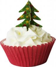 12 decorazioni 3D per torta albero di Natale