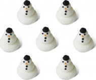 7 mini pupazzi di neve 1,5 cm Natale