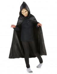 Mantello nero con cappuccio bambino Halloween