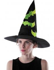 Cappello da strega con pipistrelli verdi