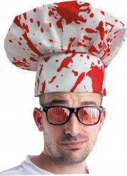 Cappello da cuoco insanguinata adulto Halloween