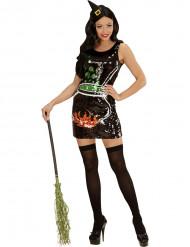 Costume da strega con paillettes Halloween