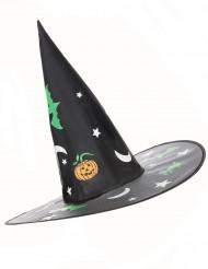 Image of Cappello strega con decorazioni fosforescenti Halloween