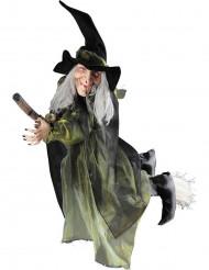 Decorazione Halloween: strega volante con scopa