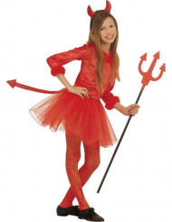 Costume diavoletto con tutù bambina Halloween