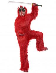 Costume da diavolo rosso deluxe adulto Halloween