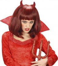 Parrucca rossa donna Halloween