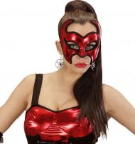 Maschera da diavolo rosso donna Halloween