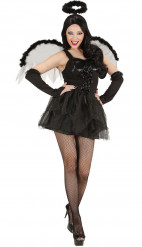 Costume Halloween: angelo nero donna