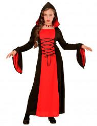 Costume contessa bambina rosso e nero