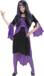 Costume vampiro viola bambina