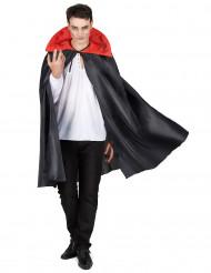 Mantello nero con collo rosso Halloween