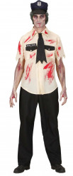 Costume Halloween: poliziotto zombie adulto