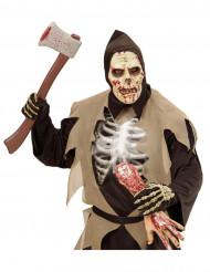 Maschera zombie con cappuccio Halloween