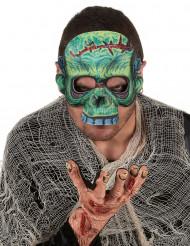 Mezza maschera zombie adulto Halloween