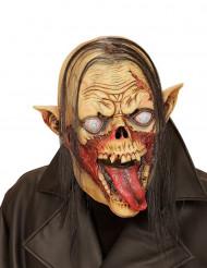 Maschera vampiro zombie con capelli adulto Halloween