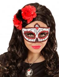 Maschera colorata paillettes adulto Giorno dei Morti