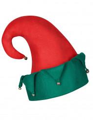 Cappello folletto di Babbo Natale con campanelli