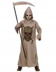 Costume falciatrice scheletro bambina Halloween