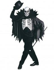 Costume scheletro con mantello adulto Halloween