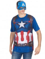 T-shirt e maschera Captain America™ per adulto