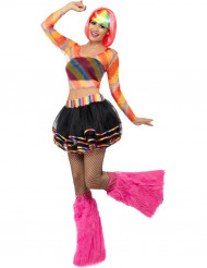 Costume rave fluo donna