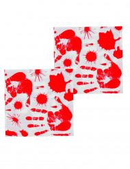 12 tovaglioli di carta mani insanguinate
