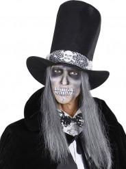 Nodo papillon con scheletri adulto Halloween
