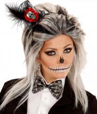 Mini cappello scheletro e papillon donna