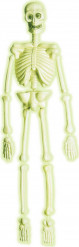 Decorazione di Halloween: scheletro fluorescente da 92 cm