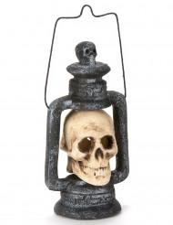 Decorazione di Halloween: lanterna con cranio luminoso