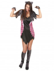 Costume da donna lupo mannaro Halloween