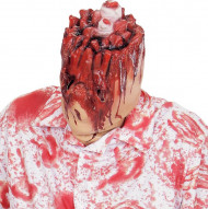 Maschera Halloween: testa strappata sanguinante adulto