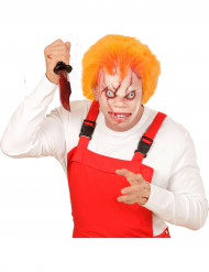 Maschera bambola assassina adulto con capelli