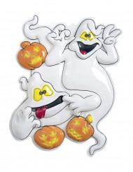 Decorazione di Halloween: fantasmi e zucche di plastica