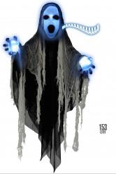 Decorazione Halloween: fantasma luminoso e sonoro