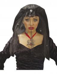 Velo vedova nera con ragno da donna per Halloween
