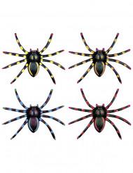 Confezione di 4 ragni fosforescenti di Halloween