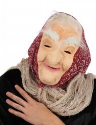 Maschera da vecchia strega con foulard