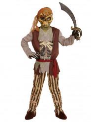 Costume da zombie pirata bambino Halloween