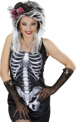 Guanti ragnatela donna Halloween