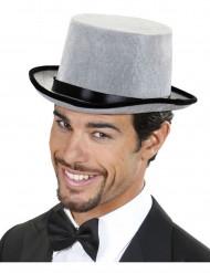 Cappello a cilindro grigio da uomo