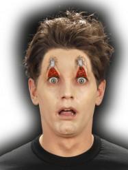 Trucco Halloween: ferita occhi spillati